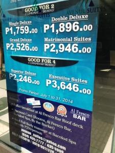Promo price Avenue Suites
